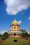 Kampala, Uganda: Baha'i Temple on Kikaaya Hill - green domed building and sky - photo by M.Torres