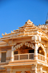 Kampala, Uganda: Hindu Temple - decorated balcony - Shree Sanatan Dharma Mandal, Snay Amir Street - photo by M.Torres