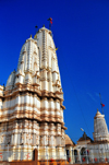 Kampala, Uganda: Hindu Temple - gopuram tower seen against the sky - Shree Sanatan Dharma Mandal, Snay Amir Street - photo by M.Torres