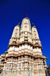 Kampala, Uganda: Hindu Temple - triple gopuram tower seen against the sky -  Shiva temple on Shree Sanatan Dharma Mandal, Snay Amir Street - photo by M.Torres