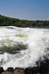 Bujagali Falls, Jinja district, Uganda: these are more catarats than real falls on the river Nile, but perfect for white water reafting - seen from the Eastern bank - in 2012 the falls were submerged by the Bujagali Dam - photo by M.Torres