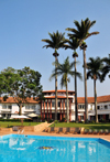 Entebbe, Wakiso District, Uganda: Laico Lake Victoria Hotel and its pool - photo by M.Torres