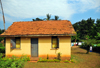 Entebbe, Wakiso District, Uganda: yellow house on Manyago Road, part of a development for civil servants - photo by M.Torres