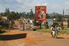 Uganda - road scenery - beer billboard - photo by E.Andersen