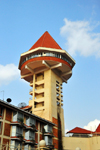 Kampala, Uganda: Golf Course Hotel and Casino, with its panoramic tower, Yusuf Lule Road - photo by M.Torres