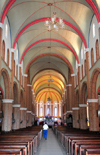 Kampala, Uganda: St. Mary's Catholic Cathedral, Rubaga Cathedral, Rubaga hill - interior of the nave - pews and vaulted ceiling - Metropolitan Archdiocese of Kampala - photo by M.Torres