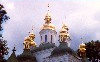 Ukraine / Ucrania- Kiev: spires at the Chruch of the Nativity of Our Lady - the Far Caves (photo by Miguel Torres)
