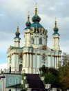 Kiev: St. Andrew's church by B.B. Rastreli  (photo by D.Ediev)