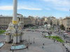 Ukraine - Kiev: Independence square, formerly Square of the October Revolution - the view from Hotel Ukraina (photo by D.Ediev)