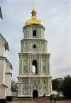 Kiev / Kyiv: Bell tower of Saint Sophia cathedral - Unesco world heritage site (photo by D.Ediev)