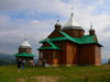 Transcarpathia / Zakarpattya, Ukraine: countryside around Jablonica - wooden church - photo by J.Kaman