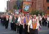Ulster - Northern Ireland - Belfast: Orange March - Martyrs of the Grassmarket lodge (photo by R.Wallace)