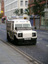 Ulster - Northern Ireland - Belfast: Police Land Rover (photo by R.Wallace)