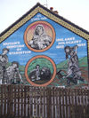Ulster - Northern Ireland - Belfast: Republican mural - the great hunger imposed by the British - genocide - holocaust (photo by R.Wallace)