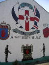 Ulster - Northern Ireland - Belfast: Unionist mural in South Belfast - UDA - Ulster Defence Association (photo by R.Wallace)