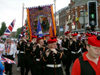 Ulster - Northern Ireland - Belfast: Orange march - McMullan memorial lodge band (photo by R.Wallace)