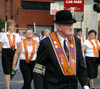 Ulster - Northern Ireland - Belfast: Orange march - Belfast County Grand Lodge - Grand Marshal (photo by R.Wallace)