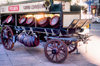 Uruguay - Montevideo: beer cart - Pilsen barrels - photo by M.Torres