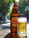 Uruguay - Colonia del Sacramento - Pilsen - the most refreshing beer of Colonia - photo by M.Bergsma