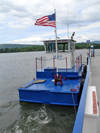 Lake Champlain, Vermont, USA: a tug drives the ferry along a cable - Fort Ticonderoga ferry - photo by G.Frysinger