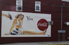 Bristol, Bucks County, Pennsylvania, USA: retro mural ad for Coca-Cola - photo by N.Chayer