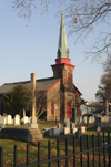 Bristol, Bucks County, Pennsylvania, USA: St James Episcopal Church and cemetery - Church of England - photo by N.Chayer