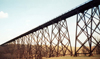 west of Boone (Iowa): Kate Shelley High Bridge - world's tallest double track trestle bridge - valley of the Des Moines River - railway bridge - KSHB - civil engineering - photo by D.M.Ediev