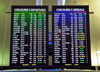 Milwaukee, Wisconsin, USA: General Mitchell International Airport - arrivals and departures screens - concourse C - MKE - airport terminal scene - photo by M.Torres