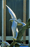 Dallas, Texas, USA: metal sculpture of birds in flight - photo by C.Lovell