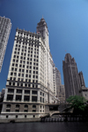 Chicago, Illinois, USA: Wrigley Building and Tribune Tower as seen from the Chicago River - Chicago's 'Magnificent Mile' - photo by C.Lovell
