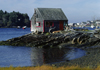 Maine, USA: old fishing cabin with shingles - Atlantic Coast - New England - photo by C.Lovell