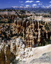 Bryce Canyon National Park, Utah, USA: hoodoos, formed by wind, water and ice erosion of the rsedimentary rocks - photo by J.Fekete