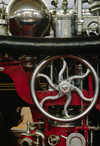 Dearborn, Michigan, USA: detail of well preserved railroad steam engine in the Henry Ford Museum - photo by C.Lovell