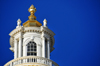 Boston, Massachusetts, USA: Massachusetts State House - Capitol - dome lantern topped with a gilded pine cone - photo by M.Torres