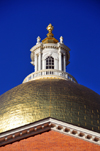 Boston, Massachusetts, USA: Massachusetts State House - Capitol - dome sheathed in copper and gilded in 23k gold - photo by M.Torres