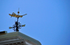 Boston, Massachusetts, USA: Faneuil Hall - gilded grasshopper weather vane, modeled after the grasshopper atop the Royal Exchange in London - made by Shem Drowne - photo by M.Torres