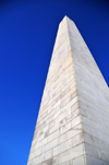 Boston, Massachusetts, USA: Charlestown - Bunker Hill Monument - granite obelisk designed by Solomon Willard - Freedom Trail - Boston National Historical Park - photo by M.Torres