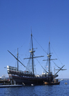 Boston, Massachusetts, USA: replica of the Mayflower in the harbour - photo by C.Lovell