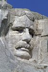 Mount Rushmore National Memorial, Pennington County, South Dakota, USA: Theodore Roosevelt - Dutch-American - winner of the Nobel Peace Prize for the negotiated end of the Russo-Japanese War - photo by C.Lovell