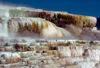 Yellowstone NP, Wyoming, USA: Mammoth Hot Springs - Minerva Terrace - close - Unesco world heritage site - photo by J.Fekete