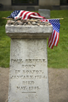Boston, Massachusetts, USA: grave of Paul Revere in the Granary Burying Ground - rebel messenger in the battles of Lexington and Concord - photo by C.Lovell