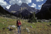Grand Tetons National Park, Wyoming, USA: backcountry hiker - photo by C.Lovell