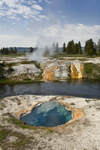 Yellowstone National Park, Wyoming, USA: hot spring near the Firehole River - one of thousands of thermal features in the park - photo by C.Lovell