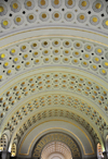 Washington, D.C., USA: Union Station - vaulted ceiling with gold leaf - architect Daniel Burnham - photo by M.Torres