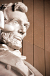Washington, D.C., USA: Lincoln Memorial - face in contemplation - close-up - photo by M.Torres
