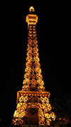 Las Vegas (Nevada): mock Eiffel tower - restaurant - photo by P.Soter