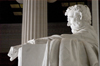 Washington, D.C., USA: Lincoln Memorial - Abraham Lincoln's statue - profile with clenched fist - photo by C.Lovell