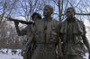 Washington, D.C., USA: Sculpture of American soldiers in Vietnam by Frederick Hart - Three Servicemen statue, part of the Vietnam Veterans Memorial - The Mall - photo by C.Lovell