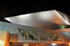 Denver, Colorado, USA: Denver Art Museum - the titanium-clad Frederic C. Hamilton building at night - by Studio Daniel Libeskind and Davis Partnership Architects - photo by M.Torres