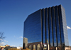 Denver, Colorado, USA: ING Security Life Center - blue-glass curtain wall - architect Michael Barber - photo by M.Torres